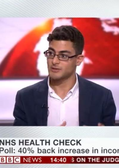 Vivek Kotecha discusses overseas patient charging on BBC News