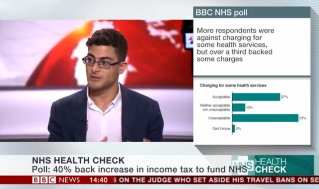 Vivek Kotecha discusses overseas patient charging on BBC News