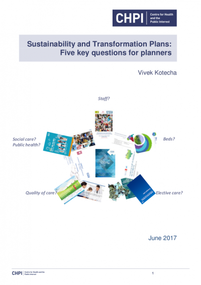 Sustainability and Transformation Plans: 5 key questions for planners