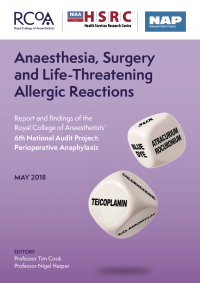 Anaesthesia, Surgery and Life-Threatening Allergic Reactions - Report and findings of the Royal College of Anaesthetists' 6th National Audit Project
