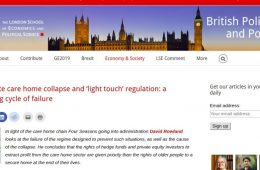 Corporate care home collapse and 'light touch' regulation: a repeating cycle of failure
