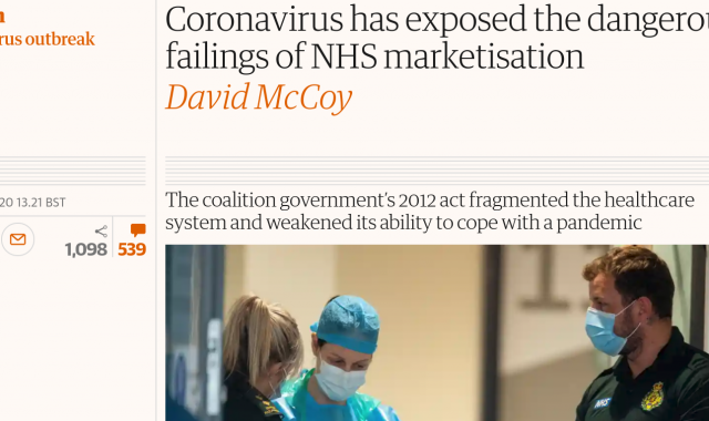 Coronavirus has exposed the dangerous failings of NHS marketisation