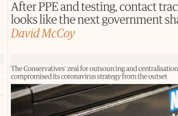 After PPE and testing, contact tracing looks like the next government shambles