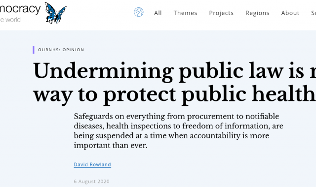 Undermining public law is no way to protect public health
