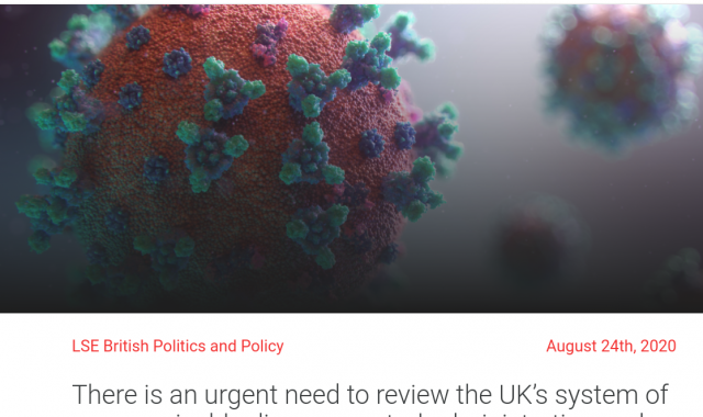 There is an urgent need to review the UK's system of communicable disease control administration and its public health laws